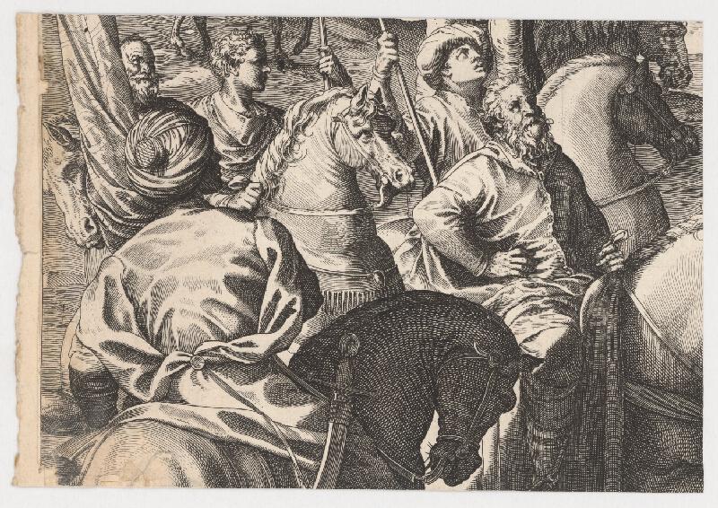 Marcus Sadeler, Jacopo Tintoretto - Fragment so skupinou jazdcov