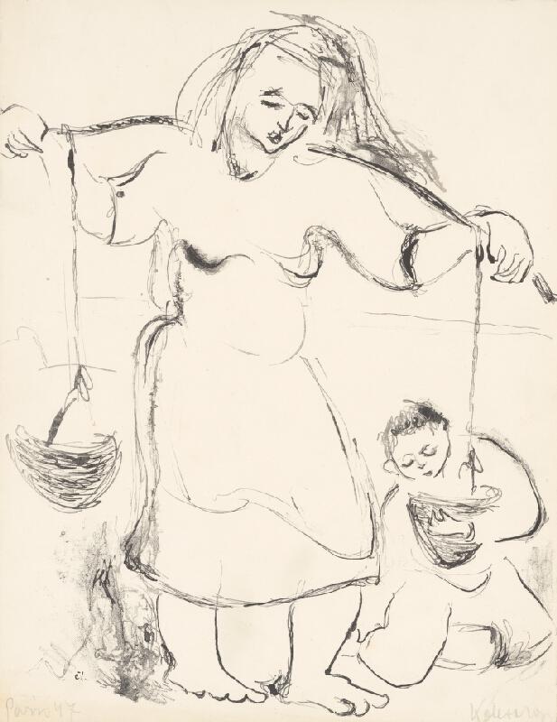 Míťa Kolesárová - Žena nesúca vodu