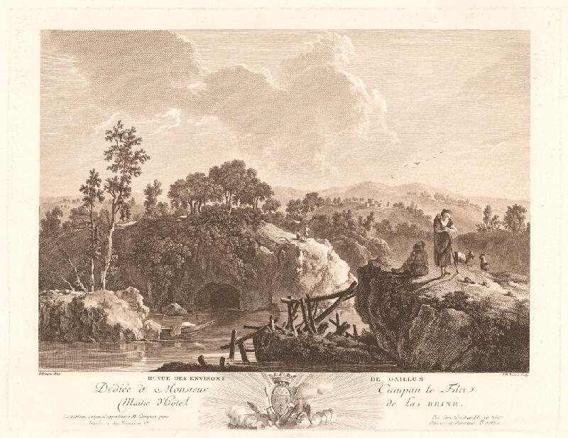 Jean-Baptiste Racine, Jean Baptiste Pillement - Pohľad na okolie Gaillonu