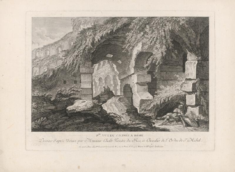 Pierre Francois Laurent, Charles Michel-Ange Challe - V ruinách Kolosea v Ríme (prvý pohľad)