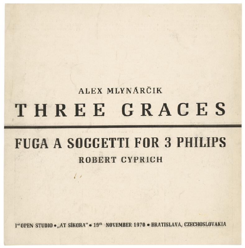 Alex Mlynárčik, Robert Cyprich – Tri grácie / Fuga a Soggetti for 3 Philips