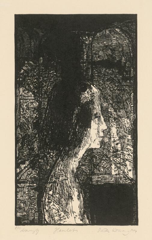 Dušan Kállay - 1. ilustrácia ku knihe W.Shakespeara Hamlet