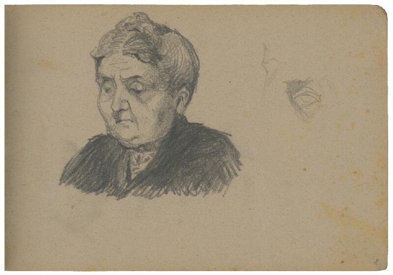 Margita Czóbelová – Náčrt portrétu staršej ženy