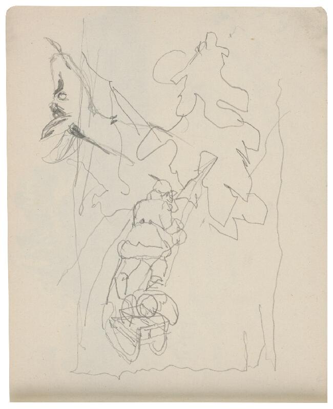 Margita Czóbelová - Náčrt muža ťahajúceho sánky