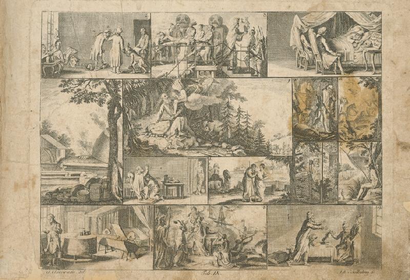 Johann Ulrich Schellenberg, Gottfried Chodowiecki - Abraham obetuje Izáka
