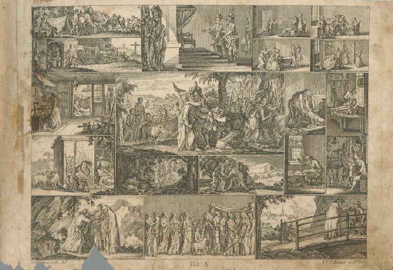 Johann Friedrich Schleuen, Gottfried Chodowiecki - Privítanie Jozefa