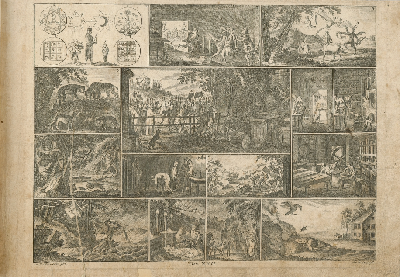 Johann Carl Bock, Gottfried  Chodowiecki - Vojenský tábor