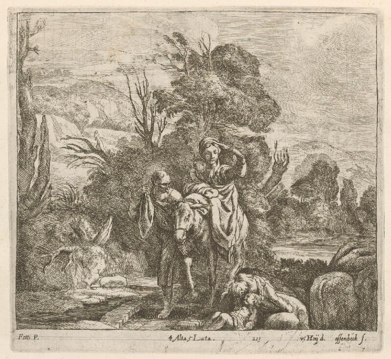 Domenico Fetti, Nikolaus van Hoy, Jan van Ossenbeck - Útek do Egypta