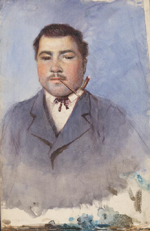 Ladislav Mednyánszky – Štúdia k portrétu muža s fajkou