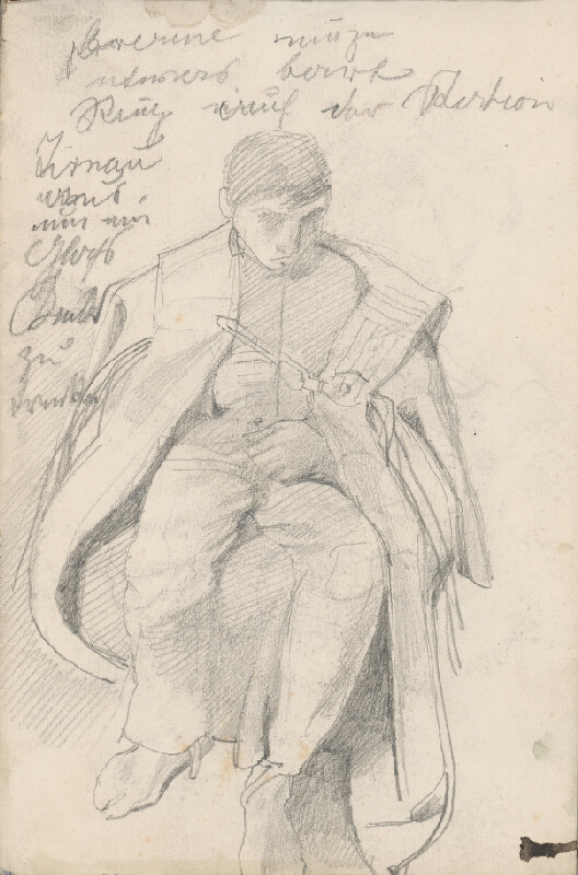 Ladislav Mednyánszky – Štúdia sediacej mužskej postavy