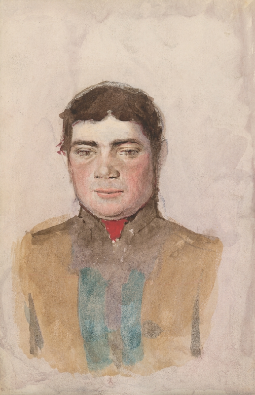 Ladislav Mednyánszky - Štúdia k portrétu mladého muža