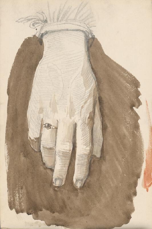 Ladislav Mednyánszky – Štúdia ženskej ruky s prsteňom