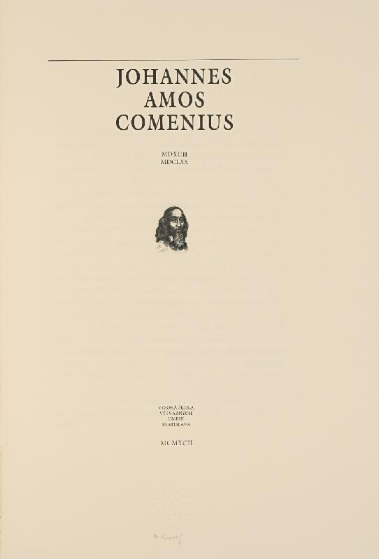 Martin Činovský – Johannes Amos Comenius