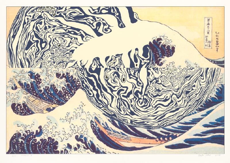 Marko Blažo – Hokusai 5, 2010, Slovenská národná galéria