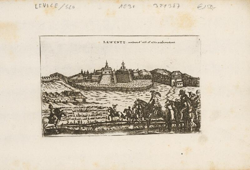 Neznámy grafik - Pohľad na pevnosť Levice v roku 1664