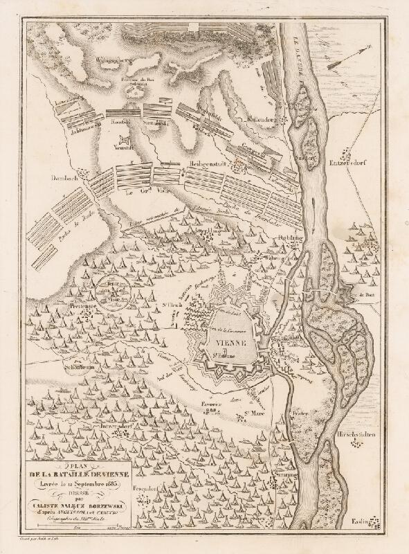 Thomas Smith - Pôdory opevnenia Viedne a rozloženia vojsk a táborov pri tureckom obliehaní v roku 1683