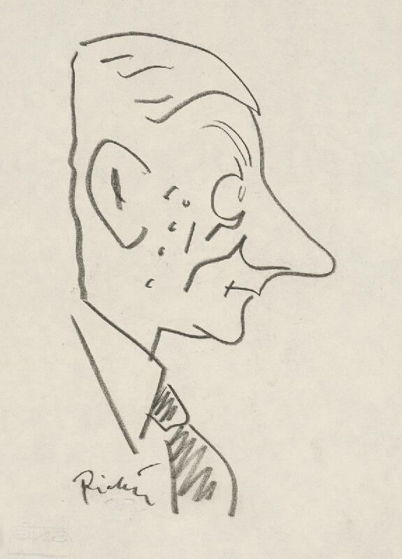 Alexander Richter - Karikatúra A. Kutala