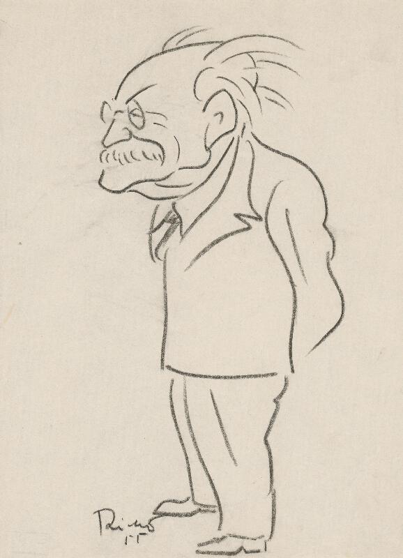 Alexander Richter - Karikatúra Zdenka Nejedlého