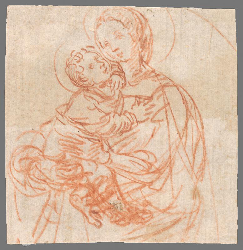 Stredoeurópsky maliar zo 17. storočia - Madona s dieťaťom