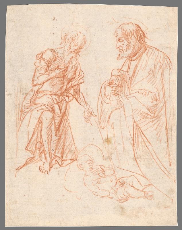 Stredoeurópsky maliar z 18. storočia - Adorácia Ježiška