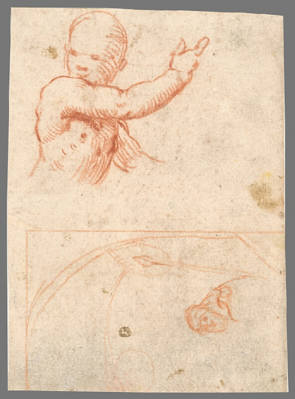 Stredoeurópsky maliar z 18. storočia - Štúdia k poprsiu anjelikov