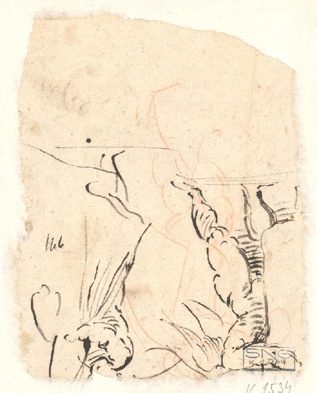 Stredoeurópsky maliar z 18. storočia - Štúdia chlapčenského aktu s drapériou