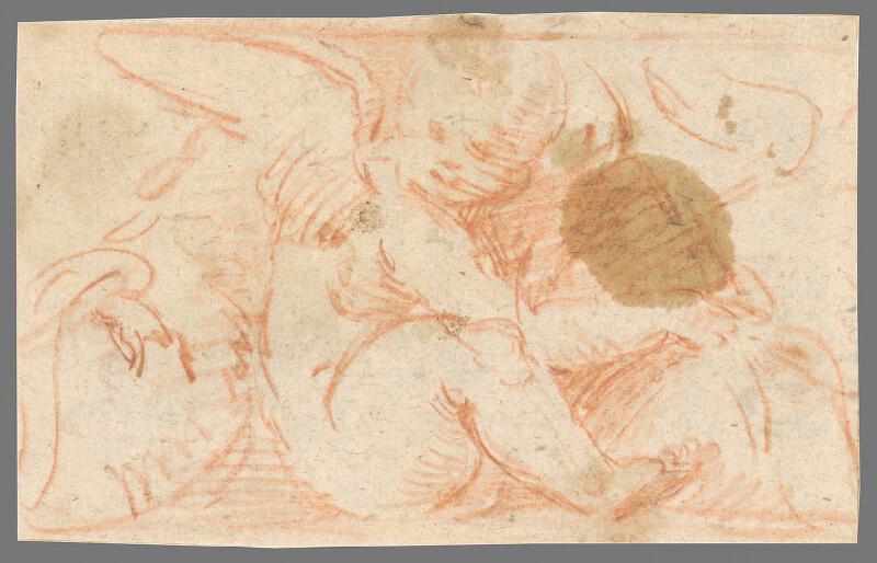 Stredoeurópsky maliar z 18. storočia - Sediaci anjelik