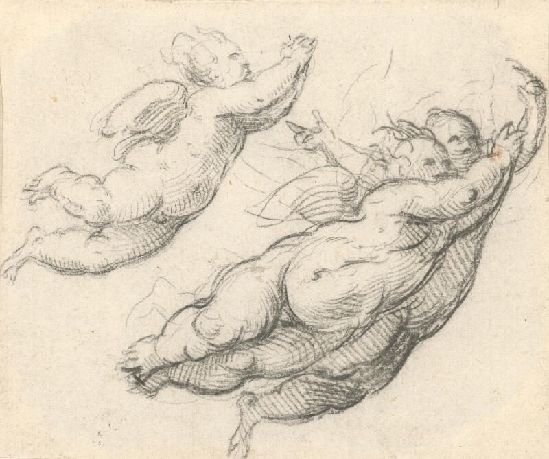 Stredoeurópsky maliar z 18. storočia - Tri vznášajúci sa Putti