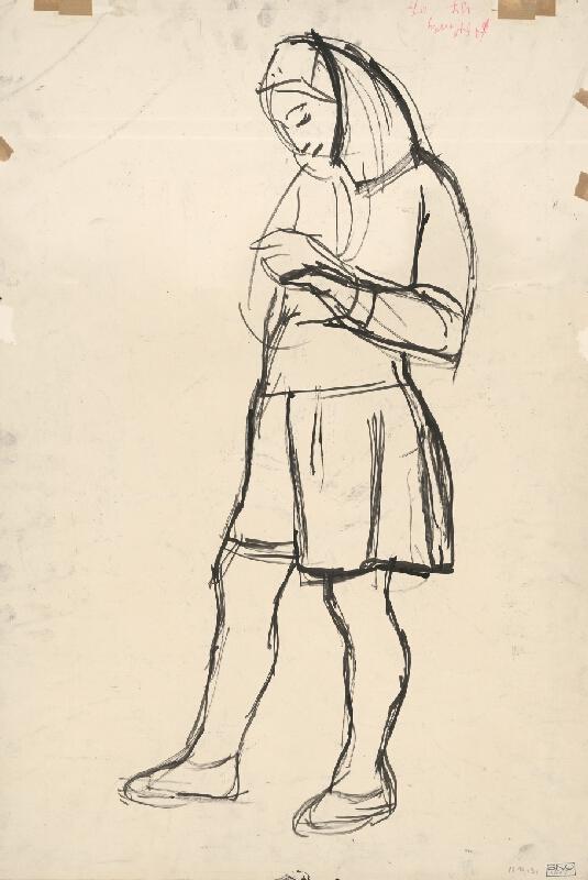 Ernest Zmeták - Sediaca žena s krčahom