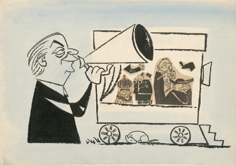 Alexander Richter - Karikatúra V. Weisskopfa
