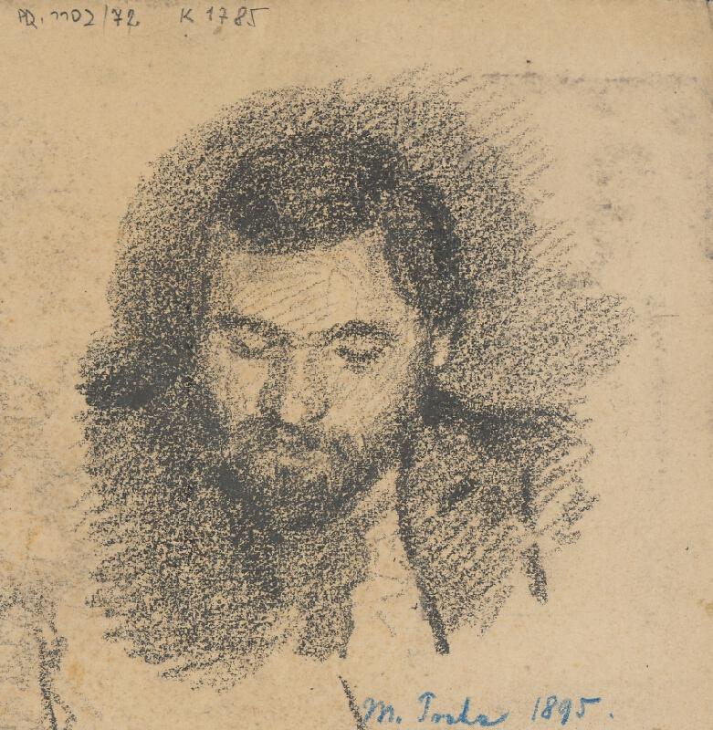 Milan Thomka Mitrovský - Štúdia hlavy muža s bradou