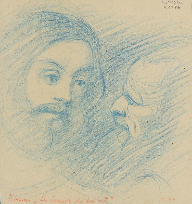 Milan Thomka Mitrovský - Dve štúdie hláv podľa Tiziana