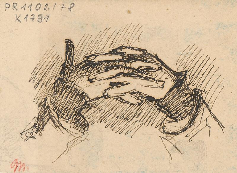 Milan Thomka Mitrovský - Štúdia pootočených zložených rúk