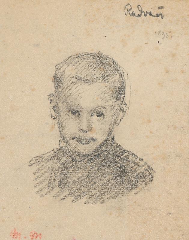Milan Thomka Mitrovský - Štúdia hlavy radvaňského chlapca