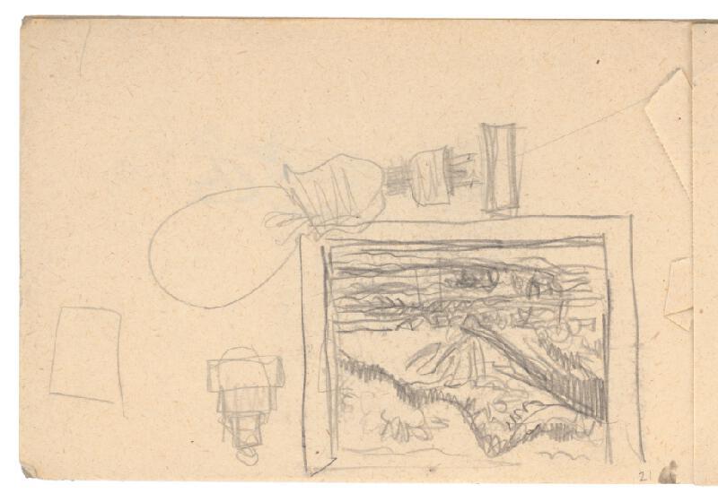 Arnold Peter Weisz-Kubínčan - Skicár 1, Rôzne skice