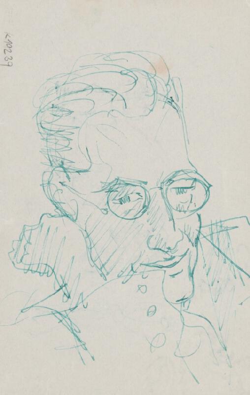 Arnold Peter Weisz-Kubínčan – Portrét muža v okuliaroch a mužské postavy