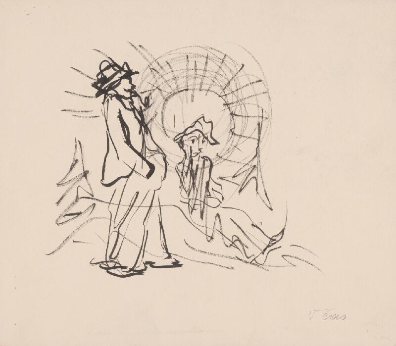 Arnold Peter Weisz-Kubínčan – Dvaja muži a skice