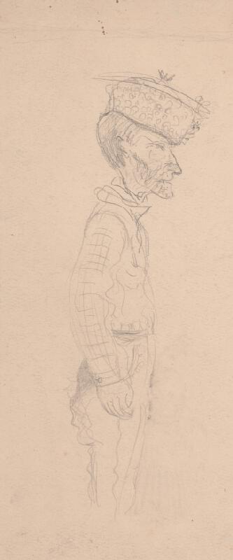 Arnold Peter Weisz-Kubínčan – Muž v baranici a autoportrét