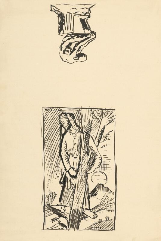 Arnold Peter Weisz-Kubínčan – Postava na strome a skice