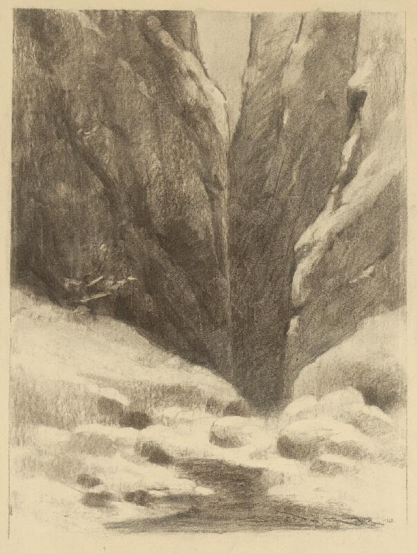Ľudovít Čordák - Prvý sneh na skalách
