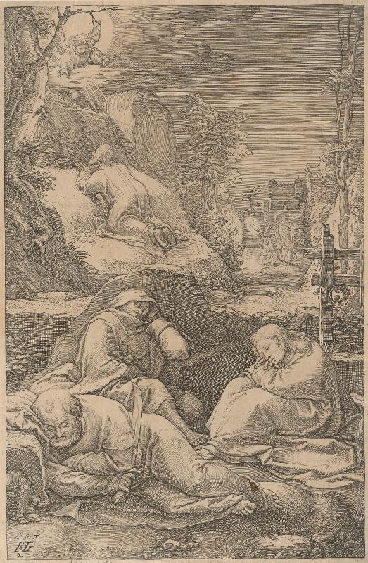 Hendrick Goltzius - Kristus sa modlí na Olivovej hore (2)
