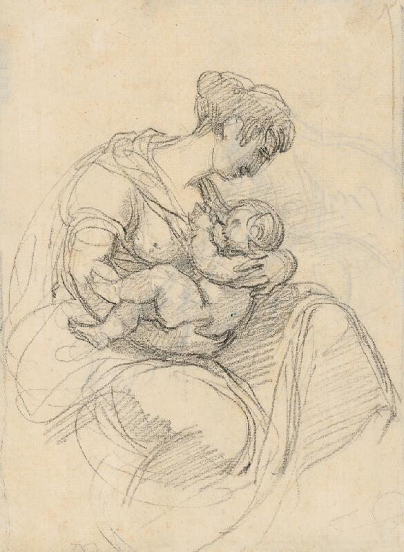 Vincenzo Camuccini - Matka kojaca dieťa