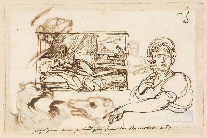 Vincenzo Camuccini – Ležiaci ženský akt na pohovke
