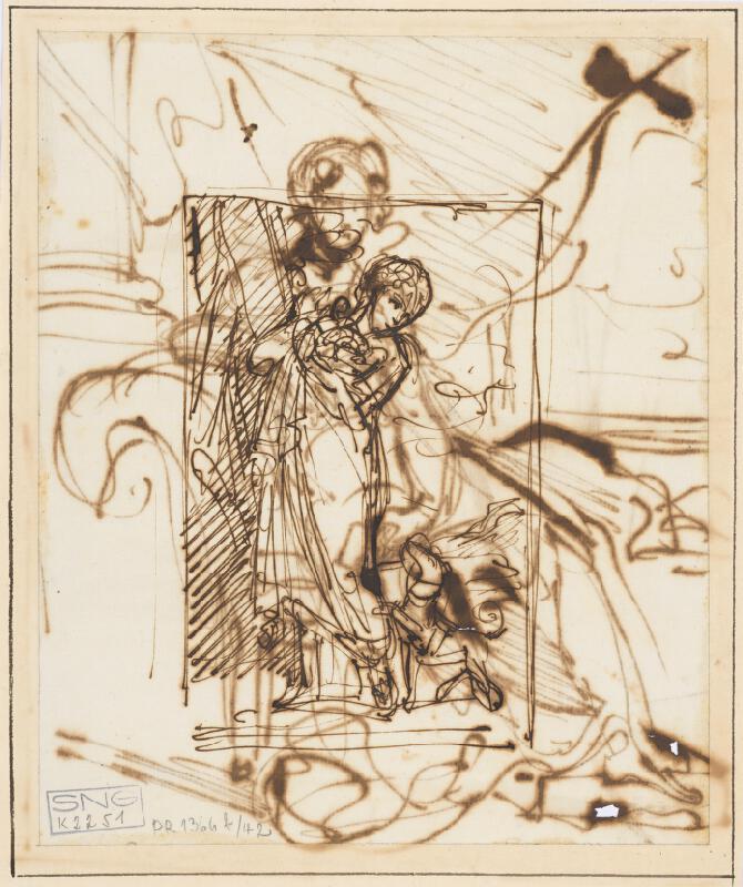 Vincenzo Camuccini – Sediaca žena v kresle