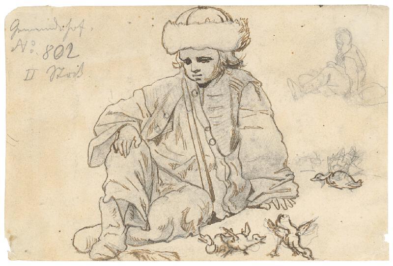 František Zvěřina - Sediaci malý pastierik