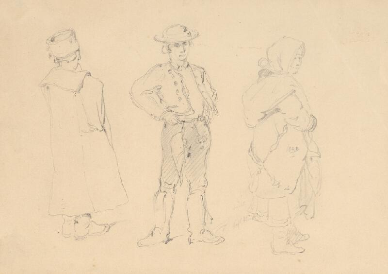 Friedrich Carl von Scheidlin - Štúdia dedinčanov v kroji