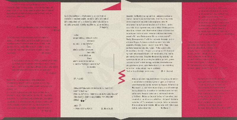 Emil Drličiak – W. Shakespeare: Macbeth. Bulletin