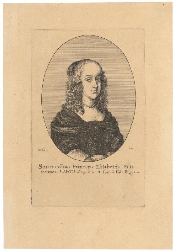 Václav Hollar – Portrét princeznej Alžbety