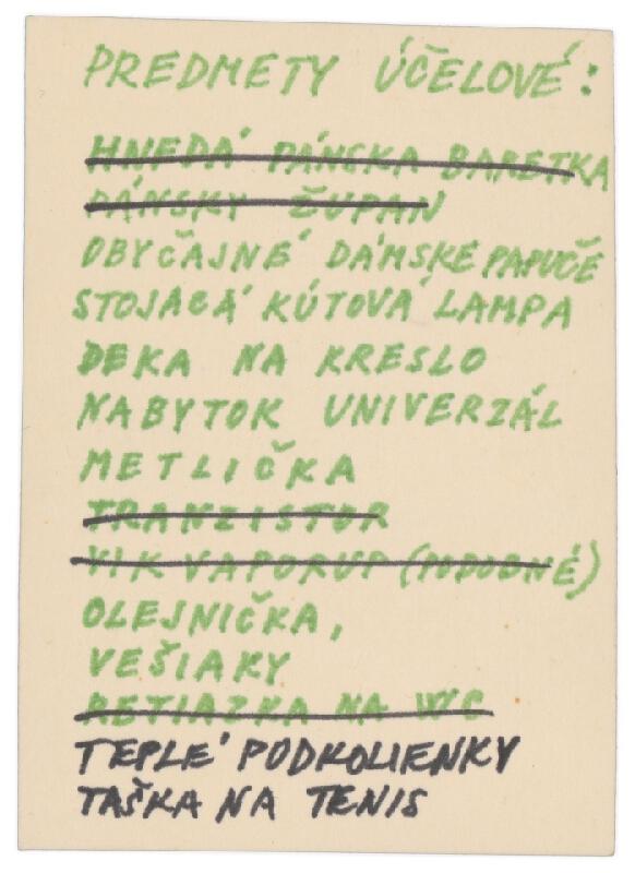 Július Koller - Archív JK/Predmety účelové: