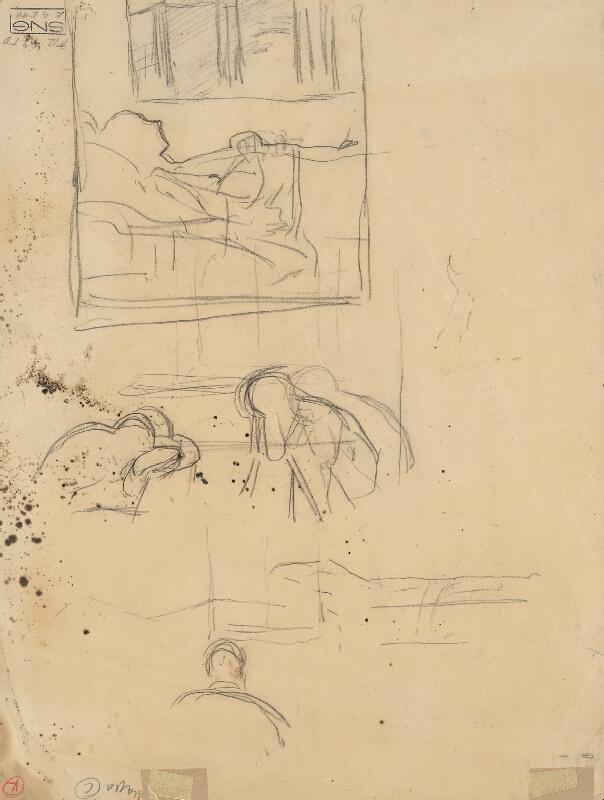 Ladislav Mednyánszky - Náčrt k obrazu Chorá